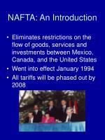 nafta an introduction
