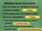 sliding book example
