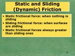 static and sliding dynamic friction