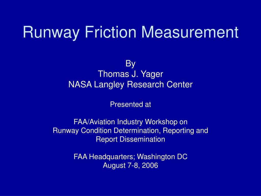 runway friction measurement l.