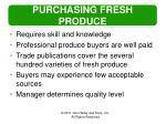 purchasing fresh produce