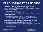 faa guidance for airports