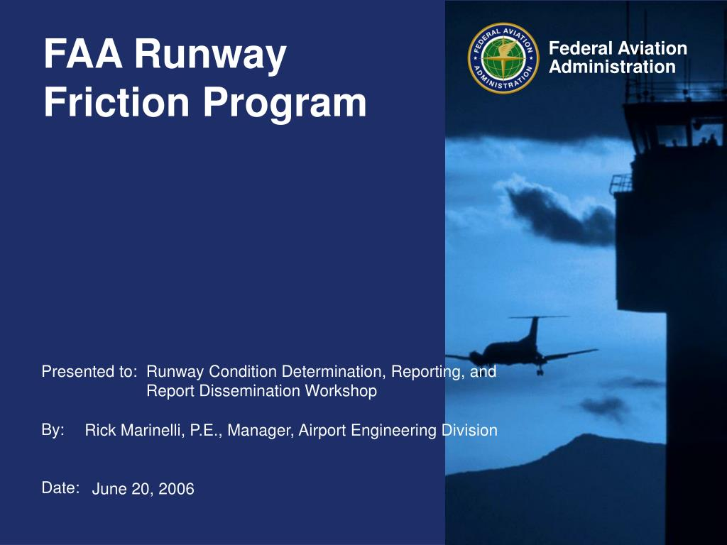 faa runway friction program l.