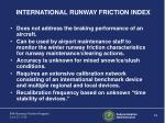 international runway friction index
