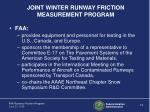 joint winter runway friction measurement program
