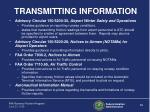 transmitting information