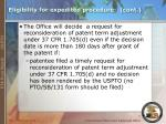 eligibility for expedited procedure cont7
