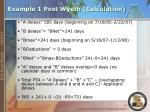 example 1 post wyeth calculation