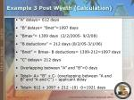 example 3 post wyeth calculation