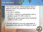 fee waivers