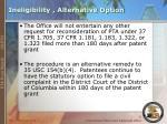 ineligibility alternative option
