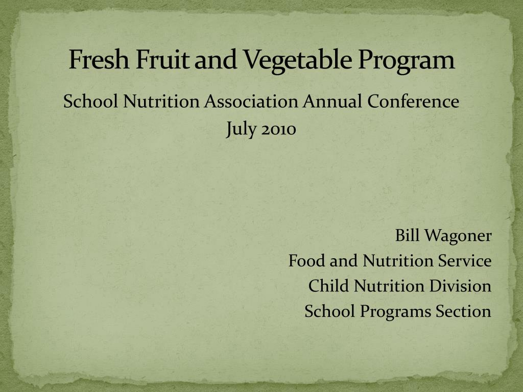 fresh fruit and vegetable program l.