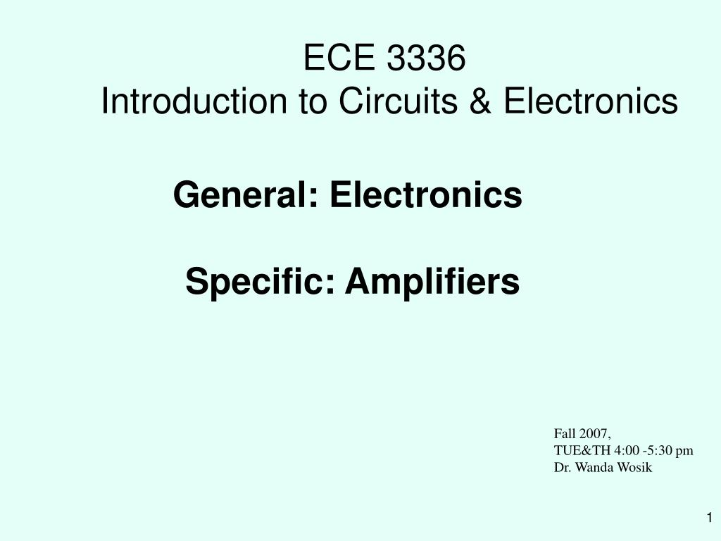 ece 3336 introduction to circuits electronics l.