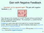 gain with negative feedback28