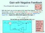 gain with negative feedback29