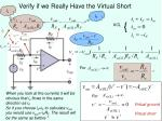 verify if we really have the virtual short