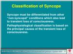 classification of syncope