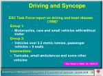 driving and syncope