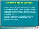 epidemiology of syncope
