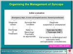 organising the management of syncope