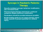 syncope in paediatric patients therapy