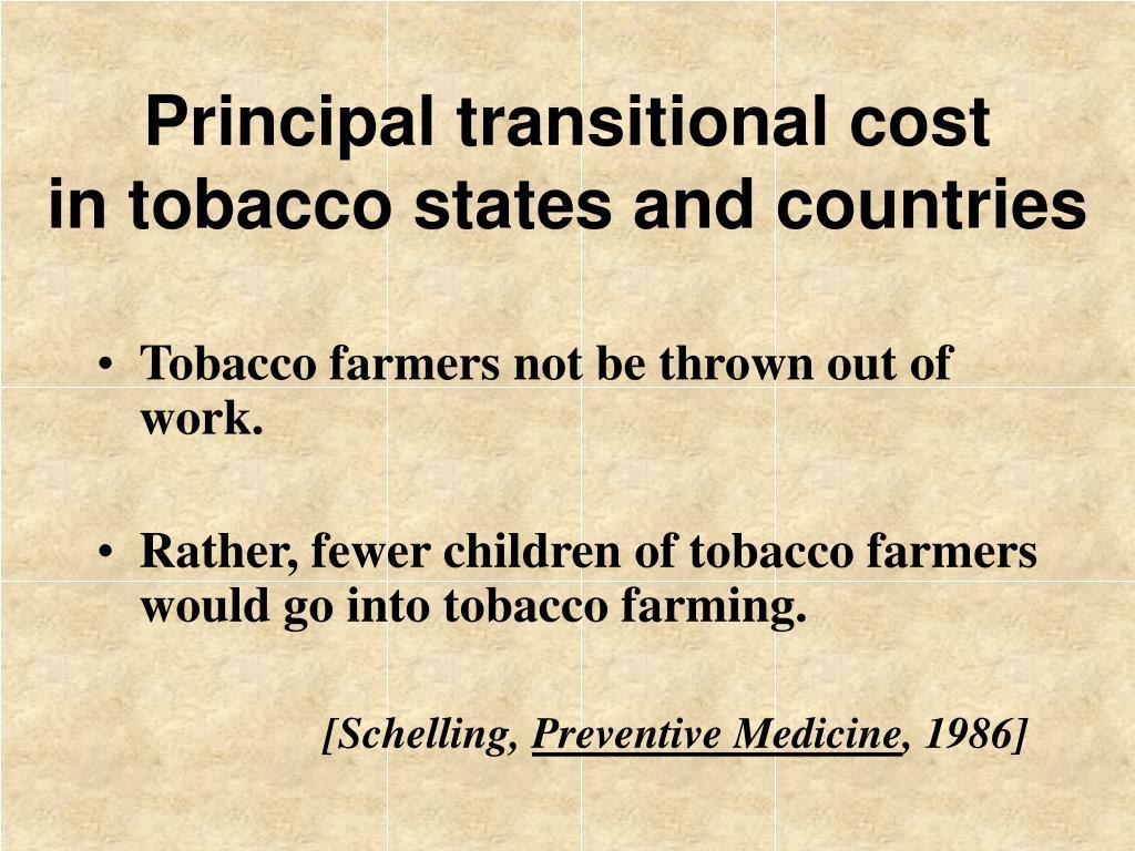Principal transitional cost