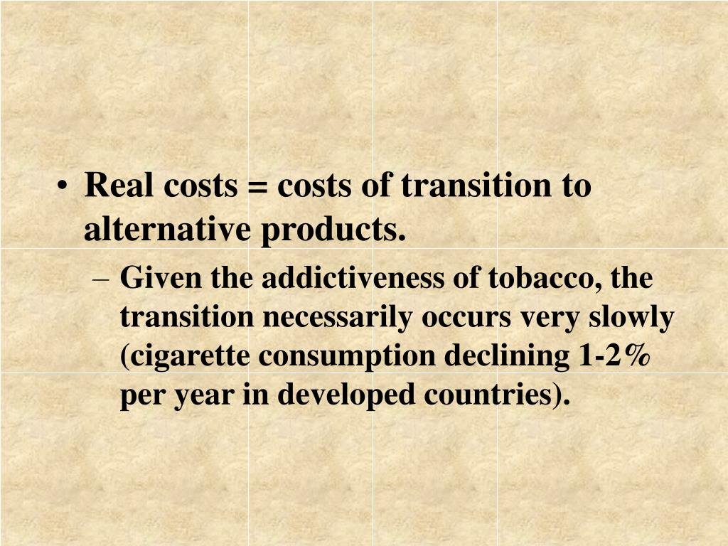Real costs