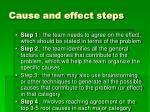 cause and effect steps