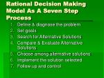 rational decision making model as a seven step process