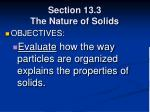 section 13 3 the nature of solids