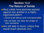 section 13 3 the nature of solids53