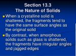 section 13 3 the nature of solids68