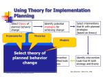 using theory for implementation planning18