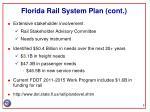 florida rail system plan cont