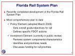 florida rail system plan