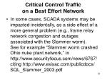 critical control traffic on a best effort network