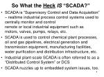 so what the heck is scada