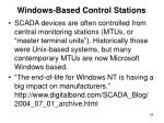 windows based control stations