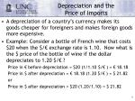depreciation and the price of imports