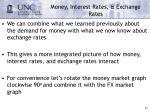 money interest rates exchange rates