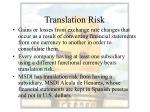 translation risk