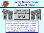 a big number from ancient rome