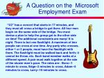 a question on the microsoft employment exam