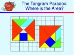 the tangram paradox where is the area