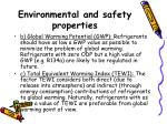 environmental and safety properties24