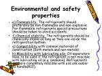 environmental and safety properties26