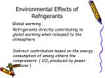 environmental effects of refrigerants64