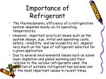 importance of refrigerant
