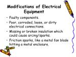 modifications of electrical equipment47