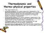 thermodynamic and thermo physical properties